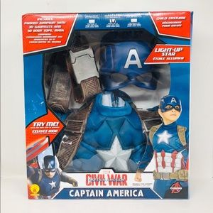 Captain America boys deluxe costume size medium